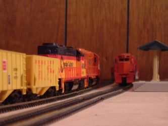 Woodstock and Southern GP40-2 #654 by Tracksidegorilla1