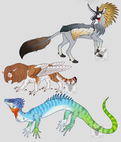 Creature Adopts (OPEN) by bluet0ast