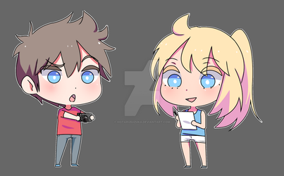Josh and nao chibis by HotaruSuzuka