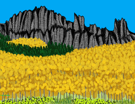 Yellow Trees by Sharee-Dilettante