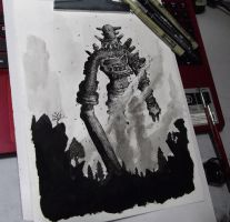 Shadow of the colossus - Gaius (FanArt) by FredGuerazzi