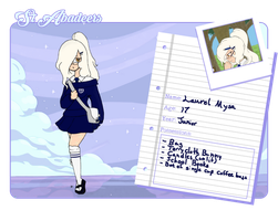 St. Abadeer's AU Laurel by bluestarproduction