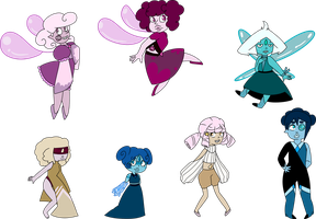 SU Smol Gem Adopts (2/7 OPEN) by SmilesUpsideDown