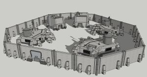 Space Colony Outpost Concept 2 by spyderrock48