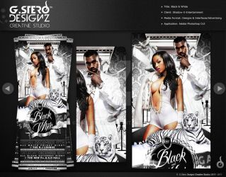 Black N White-Front Party Flyer by Gallistero