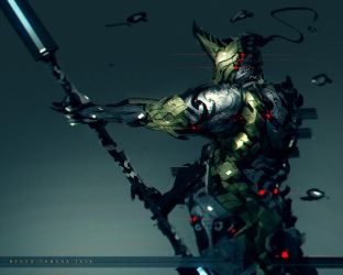 Warframe Fanart War Dog by benedickbana