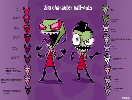 Zim's Canon colors by Skeleion