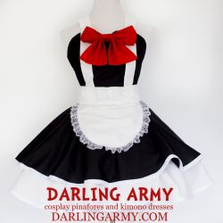 Maid Cosplay Pinafore Dress Commission by DarlingArmy