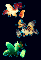 (CLOSED) Moth Dragons batch 2 by The-Monster-Shop