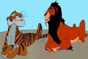 Scar and Shere Khan by BigJohnnyCool