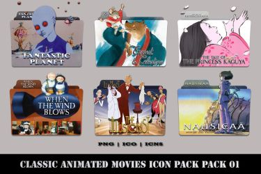 Classic Animated Movies Folder Icon Pack 01 by Bl4CKSL4YER