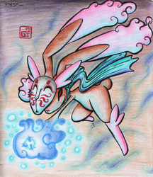 Lopunny used Ice Punch by DaisyDeddle