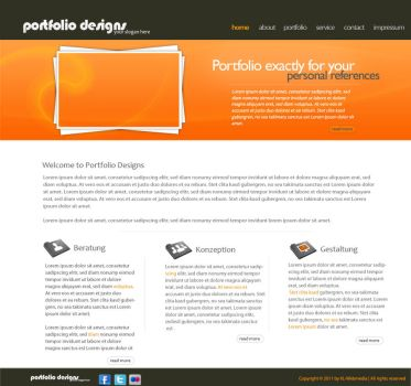Portfolio Design Orange by KL-Webmedia