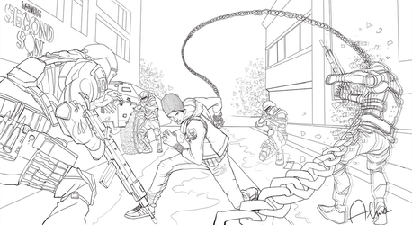 Infamous Second Son (Sketch) by SweeetRazzbery
