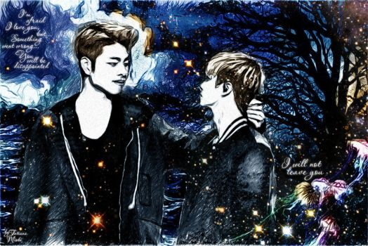 Junhoe and Jinhwan (iKON) by miobitat