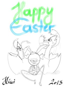happy easter by Hiwi
