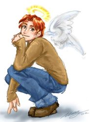 Ron...a little angel? by foxfur