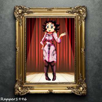 Betty's New Fashion Look on the Painting by Rapper1996