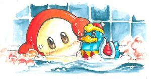 Waddle Dee and his DDDuckie by ravenoath