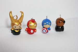 Avengers Clay Charms by ScribblesLover