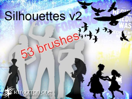 Silhouette brushes V2 by King-Billy