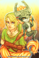 - Link and Midna - by Cloudnixus