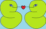 Snakes in love by Toef