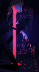 Would you like to be a hero? by Femgogol