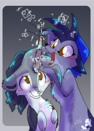 She likes Cubes a lot by JB-Pawstep