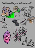 Tattoo design of pets customizable by weirdiefox