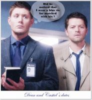 Destiel Matched Tie Date by BeccaMalory