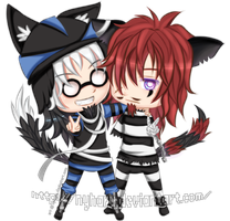 Commission - Chibi Nicodemus and Mordecai by nyharu