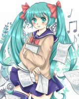 Vocaloid : Music lesson by AmiMochi