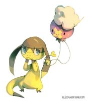 Helioptile and Drifloon