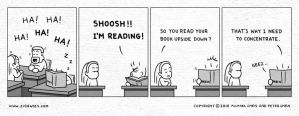 SHOOSH I'm Reading by ziggwies