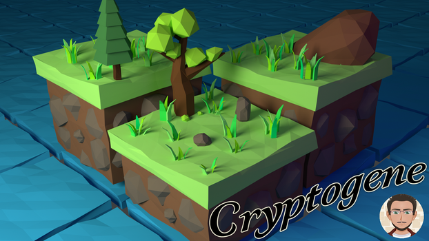 Low Poly Scene - Isometric island by Cryptogene