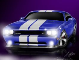 Challenger SRT8 - airbrushing by camaro1