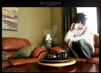 L cosplay - Death Note by xwickedgames