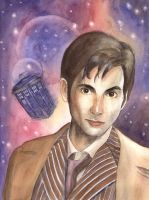 Doctor Who Portrait by David-Tennant-Fans