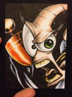 Earthworm Jim sketch card by MikimusPrime
