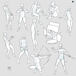 Sketchdump June 2018 (Poses - DEJ part 1) by DamaiMikaz
