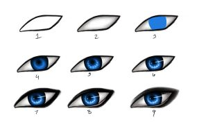 Eyes step-by-step by GuardianJay