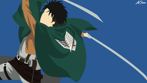 Levi Ackerman from Shingeki no Kyojin Minimal Wall by Max028
