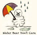 Water Bear with Umbrella by Perlana
