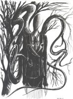 The Slender Man... Again. by ChillyAcademicIV