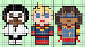 Captain Marvel Past Present and Future by lpanne