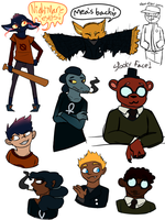 Night In The Woods sketches by turtlearmageddon