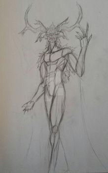 The Green Man WIP by Top-Hat-Wolf