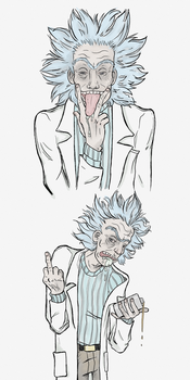 Rude Ricks (Rick Sanchez) by SmudgeThistle