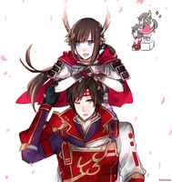 Samurai Warriors/Pokemon Conquest Hey There! by batensan